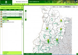 Mapa incidencies carreteres Lleida