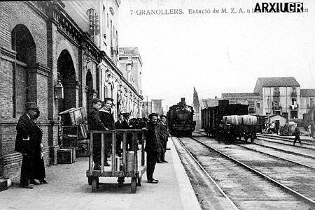 Antiga estació Granollers a l'inici del segle XX