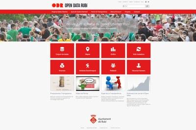 Portal de dades obertes de l'Ajuntament de Rubí