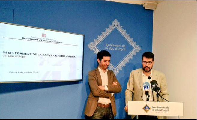 Presentació del desplegament de la fibra òptica a la Seu d'Urgell (Imatge de @albertbatalla)