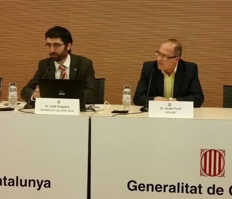 El director general de Telecomunicacions i Societat de la Informació, Jordi Puigneró, i el director general de Localret, Xavier Furió