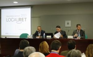 Els representants de l'ACM i l'FMC en la primera taula de l'Assemblea General de Localret