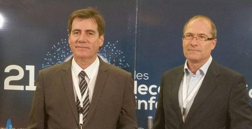 L'alcalde de Martorell i President de Localret, Xavier Fonollosa, amb el director general de Localret, Xavier Furió, al