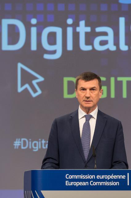 Andrus Ansip, Comissari Europeu , vicepresident per al mercat únic digital (Imatge de la Comissió Europea)