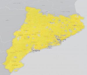 Mapa dels ens locals amb Portal de Transparència (Font: Consorci AOC)