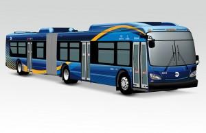 Imatge dels nous autobusos de NY (Extreta del Flickr del governador Cuomo)