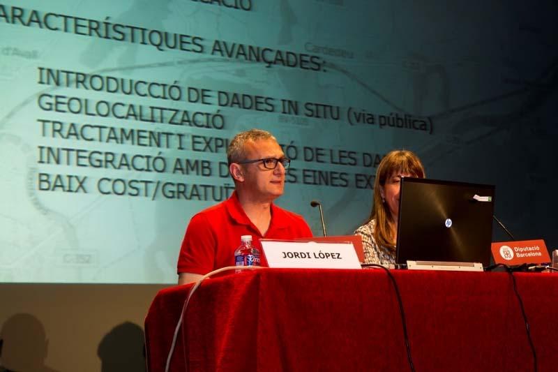 Jordi López, tècnic municipal de l'Aj. de Cardedeu a la V Jornada SITMUN (Imatge de Xavier Subias de Diputació de Barcelona)
