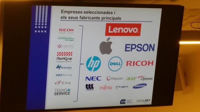 Empreses i marques seleccionades per a modernitzar els equipaments informàtics dels ens locals
