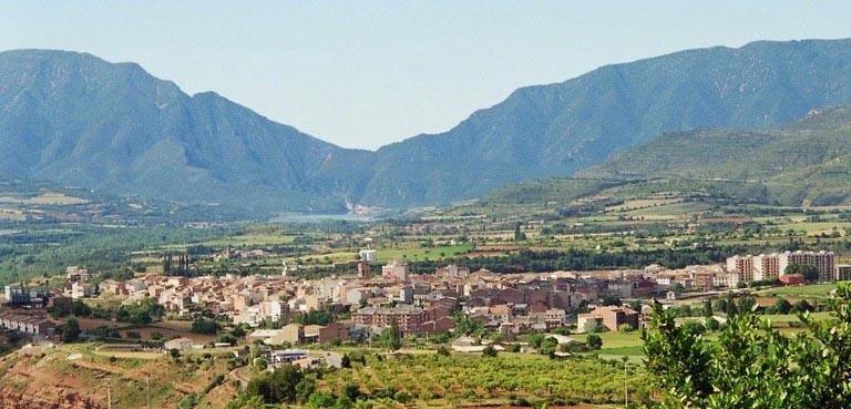 Imatge panoràmica de Tremp (Fotografia del web municipal)