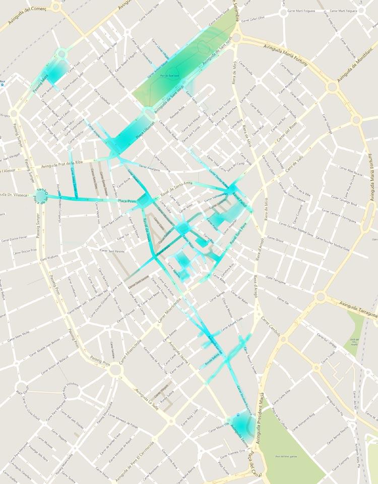 Mapa de cobertura WiFi a Reus (Font: Ajuntament)